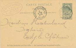 YY624 - Entier Postal Armoiries WALCOURT 1898 Vers THY LE CHATEAU - Cachet Charbons Et Bois Baudry - Massart - Entiers Postaux
