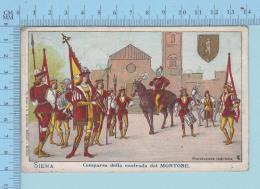 Siena - Comparsa Della Contrada Del Monstrone, Cover Squared Circle, Sienna + Firenza, 1906, Undivided Postcard - Siena
