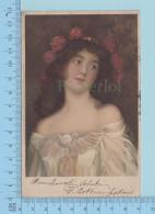 Italia - Femme D'artiste Inconue, Cachet Florence Squared Circle , Carte Indivise - Women