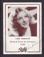AUTOGRAPHE ORIGINAL LINE RENAUD SUR PROGRAMME Pathé 1949 PHOTO STAR PRESSE - Autographes