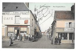 SONGEONS (60) Rue Crignon Fleury Commerces Belle Animation - Songeons