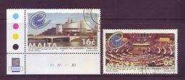 Malta 1999 - Consiglio D'Europa, 2v. Annullo Leggero E Rotondo - Malta