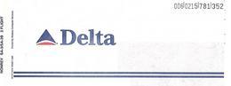 DELTA AIRLINE BLANK PASSENGER TICKET. - Tickets