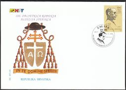 Croatia Zagreb 1998 / Archbishop And Beatific Cardinal Alojzije Stepinac 100th Birth Anniversary / FDC - Croatia