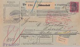 DR Paketkarte EF Minr.62 Lüdenscheid 1.4.01 Gel. In Schweiz - Deutschland