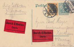 DR Ganzsache Eilbote Zfr. Minr.88I Merseburg 1.4.11 - Deutschland