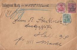 DR Wertbrief über 4500 Mark Mif Minr.70,71,77 Rudelsburg 23.6.02 - Briefe U. Dokumente