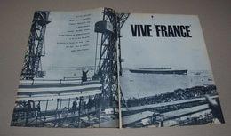 Article De Presse 1960 Sur Le Paquebot France, Sa Première Mise à L'eau, Avec De Gaulle Sur 4 Pages - Collections