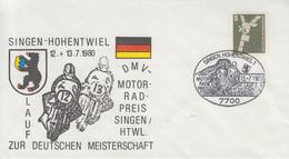 Enveloppe   ALLEMAGNE   Course   Motocycliste    SINGEN - HOHENTWIEL     1980 - Moto