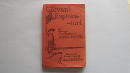 LIBRO MANUALE SCAUTISMO SCOUT GIOVANI ESPLORATORI CARPEGNA 1920 TIPOGRAFIA MARCHESI ROMA - Libri, Riviste, Fumetti