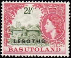 LESOTHO - Scott #16 Queen Elizabeth 'Overprinted' / Mint NG Stamp - Lesotho (1966-...)