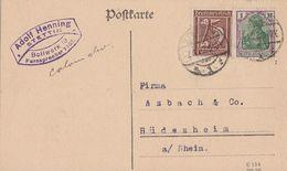 DR Karte Mif Minr.150 Plf.I, 161 Stettin 7.1.22 Geprüft - Deutschland