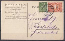 DR Karte Mif Minr.167,174b Kothen Geprüft - Deutschland