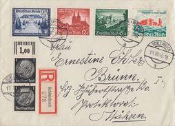 DR R-Brief Mif Minr.2x 512OR, 713,748,749,750 Schleinbach 19.8.40 - Briefe U. Dokumente