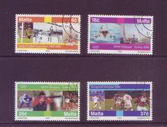 Malta 2000 - Avvenimenti Sportivi, 4v Usati Serie Completa - Malta
