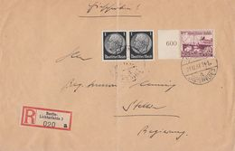 DR R-Brief Mif Minr.2x 512,659 SR Berlin 21.12.37 - Briefe U. Dokumente