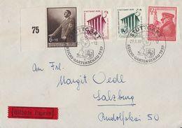 DR Brief Eilbote Mif Minr.691,692,693,694 SST Stuttgart 29.5.39 - Briefe U. Dokumente