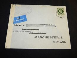 Algeria 1944 Censored Air Mail Cover To UK__(L-4844) - Algerien (1924-1962)