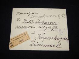 Austria 1920 St.Peter Registered Cover To Denmark__(L-3872) - Briefe U. Dokumente