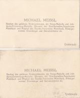 2 Alte Visitenkarten Von Grafensulz, Besitzer Des Goldenen Verdienskreuzes U.v.m. - Autogramme & Autographen