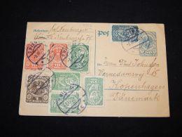 Austria 1921 Stationery Card To Denmark__(L-3912) - Stamped Stationery