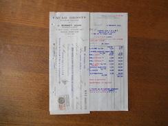 PARIS J. BONNET JEUNE AGENT GENERAL CACAO DROSTE HAARLEM HOLLANDE 7 RUE ABEL XIIe FACTURE ET TRAITE DU 5 DECEMBRE 1933 - Frankreich