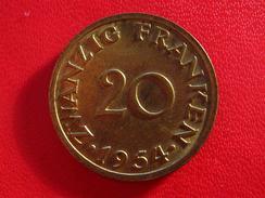 Saarland - 20 Francs Franken 1954 5592 - Sarre