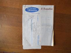SARLAT-EN-PERIGORD DELPEYRAT & BONNEFON CONSERVES DE LUXE FACTURE ET TRAITE DU 25 AVRIL 1933 - 1900 – 1949