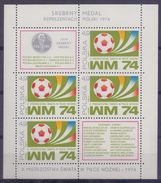 POLSKA/POLAND :1974: BF65(2155) : ## WM 74 ## : FOOTBALL,WORLD CHAMPIONSHIP,FIFA,BALL, - Coppa Del Mondo