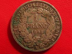 1 Franc Cérès 1894 A 2883 - Francia
