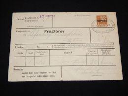 Denmark Fragtbrev 1962 1Kr To Esbjerg__(L-4070) - Parcel Post