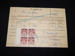 Denmark Fragtbrev 1970 16,2Kr To Fanö__(L-4012) - Parcel Post
