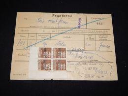 Denmark Fragtbrev 1970 27Kr To Fanö__(L-4013) - Parcel Post