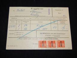Denmark Fragtbrev 1972 6Kr To Nordby__(L-3985) - Parcel Post