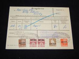 Denmark Fragtbrev 1973 3,5Kr To Nordby__(L-3991) - Parcel Post