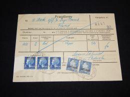 Denmark Fragtbrev 1975 4,8KR To Fanö__(L-3993) - Parcel Post