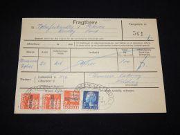 Denmark Fragtbrev 1975 7Kr To Nordby__(L-4038) - Parcel Post
