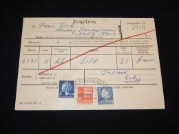 Denmark Fragtbrev 1976 3,9Kr To Nordby__(L-4029) - Parcel Post