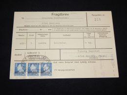 Denmark Fragtbrev 1977 2,7Kr To Esbjerg__(L-4068) - Parcel Post