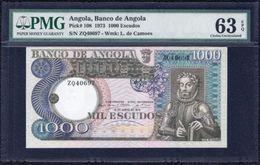 Angola - 1000 Escudos 1973 PMG 63 EPQ - Unclassified