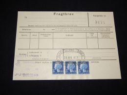 Denmark Fragtbrev 1977 3Kr__(L-3997) - Parcel Post