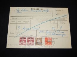 Denmark Fragtbrev 1979 2,5Kr To Nordby__(L-4016) - Parcel Post