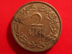 Allemagne - 2 Reichsmark 1927 A 2819 - [ 3] 1918-1933 : Weimar Republic