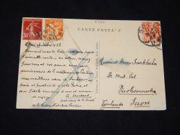 France 1938 Postcard To Finland__(L-4392) - France