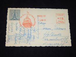 France 1956 Tour Eiffel Vignette On Postcard__(L-4425) - France