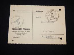 Germany 1938 Ilmenau Feldpost Slogan Cancellation Card__(L-3674) - Covers & Documents