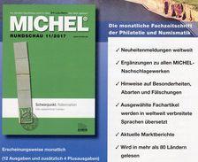 Briefmarken Rundschau MICHEL 11/2017 6€ New Stamps Of The World Catalogue/magacine Of Germany ISBN978-3-95402-600-5 - Philatelie Und Postgeschichte
