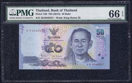 Thailand, 50 Baht Type 2012 PMG 66 EPQ Gem *UNC* King Rama IX - Banknotes