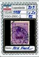 EUROPE:#YUGOSLAVIA#CLASSIC# MH*# (YGO-250C-1) (86) - 1919-1929 Regno Dei Serbi, Croati E Sloveni