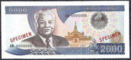 Lao Laos, 2000 Kip Type 1997 SPECIMEN UNC - Billets